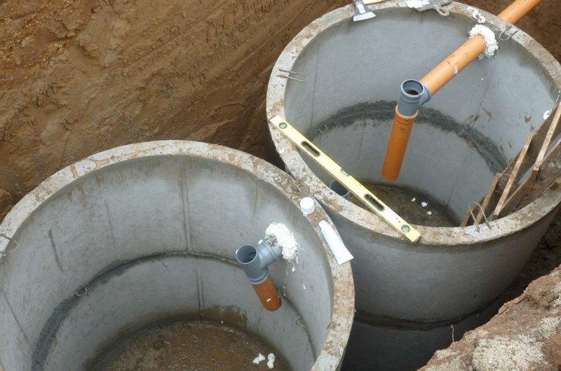 Монтаж выгребных ям канализации